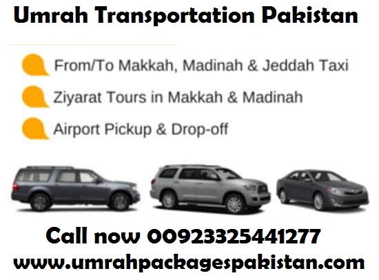 Umrah Taxi Cab from Jeddah to Makkah to Madinah to Madinah Airport